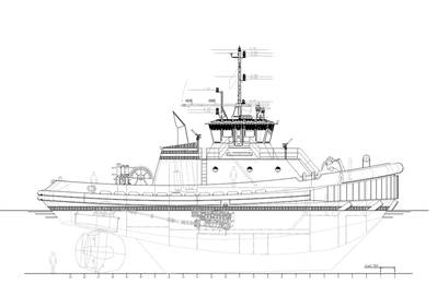 Jensen designed ASD tugboat.