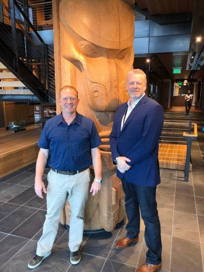 John Parrot, CEO of Foss Maritime with Ron de Bruyne, Founder and CEO of Helm Operations (Photo:Foss Maritime)
