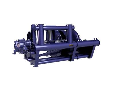 JonRie Marine Winches debuted its new Series 525 Double Drum Bow Winch designed for a 6,770 HP ASD.