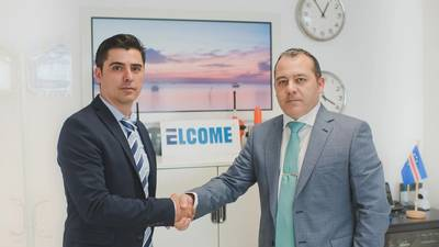 Jose Antonio Sanchez, technical manager, left; Francisco Rufo, branch manager, right. (Photo: Elcome International)
