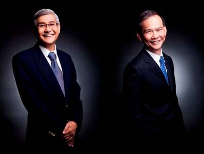 Joseph Foo Chew Tuck (right) will take over for retiring CEO Ronald Tan Lian Huat (left) at Jason Marine Group (Photos: Jason Marine Group)