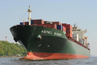 Kaethe C. Rickmers: Photo courtesy Port of Hamburg