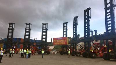 Kalmar Essential Range Empty Container Handlers at the customer's site in China. Photo: Kalmar