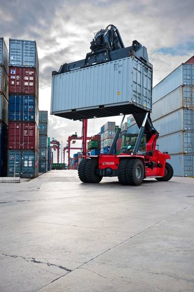 Kalmar reach stackers and empty container handlers will be used at inland terminals operated by ECT in Europe (Photo: Cargotec).