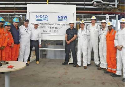 Keel-laying ceremony: Photo courtesy of the shipyard
