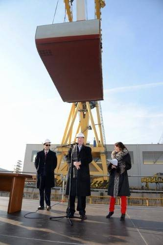 Keel-laying ceremony: Photo credit Viking Cruises