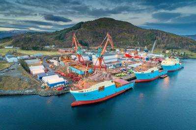 Kleven Verft in Ulsteinvik, Norway. (Photo: Kleven)