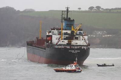 KML's RIB assists grounded Russian ship 'Kuzma Minin' (Photo: KML)_