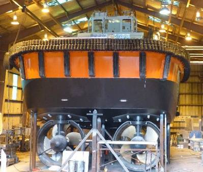 Kootenay Under Construction: Photo credit Samson Tug Boats