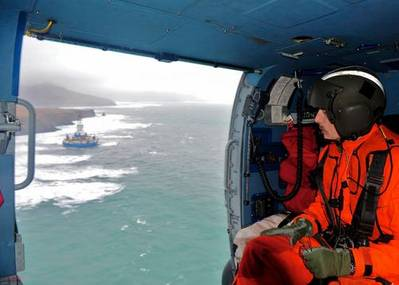 Kulluk Fly-over: Photo credit USCG