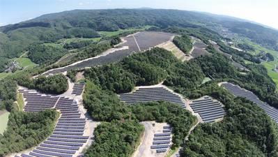 Kumenan PV plant Japan