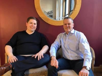 L to R -  Matt Heider, Chief Executive Officer of Nautilus, and Greg Trauthwein, Editor of Marinelink (Photo: Marinelink)