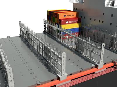 Lashing bridge is a vital part of the container ship's cargo system. With a proper cargo system design, the ship's capacity will be secured.