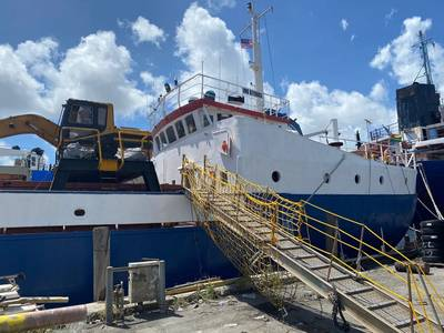 Law enforcement teams interdicted about 33 pounds of cocaine on board the general cargo vessel La Temperance in Miami, on September 14. (Photo: U.S. Coast Guard)