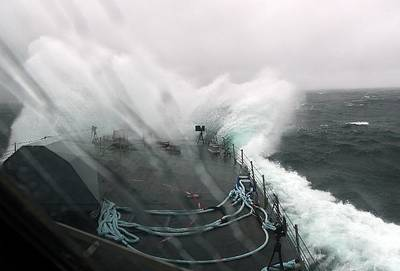 LCS 3 in Atlantic Storm: Photo credit USN