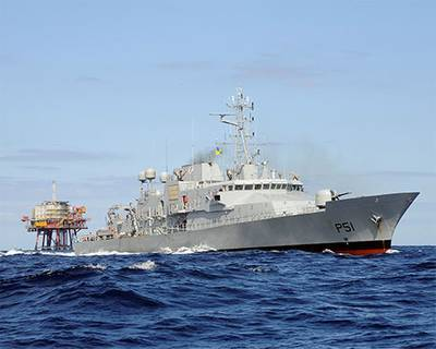 'Le Roisin' – one of the P51 class Irish Naval vessels to be included in Tymor's survey.  (Photo: Tymor Marine)