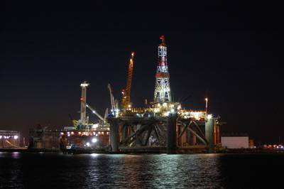LED Oil Platform Lighting: Photo credit Dialight