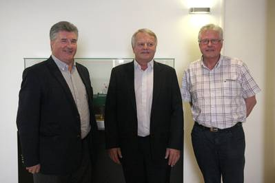 (left to right), Norrie McVicar, ITF OTFG chair; Christian Lefèvre, Bourbon CEO; and Marcel Tanguy, adviser to the general secretary of the CFDT
