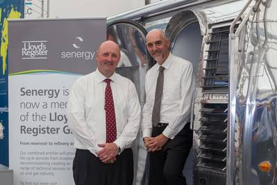 left to right: Senergy group CEO, James McCallum and John Wishart, Energy Director, Lloyd's Register