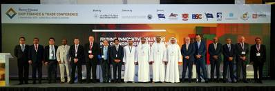 (Left to Right): Tien Tai, HFW; Capt. S.R. Patnaik, International Shipping & Logistics; Zhang Wei, Industrial and Commercial Bank of China Limited (ICBC); Bobby Varghese, Abu Dhabi Port; Chris Peters, Emirates Ship Investment Company LLC; Martin Aarup, Abu Dhabi Ports; Clive Woodbridge, The Maritime Standard; Trevor Pereira, The Maritime Standard; Capt. Mohamed Juma Al Shamisi, Abu Dhabi Port; H.E. Eng. Ahmed M. Shareef Alkhoori, Federal Transport Authority-Land & Marine; Capt. Abdulkareem Al Ma