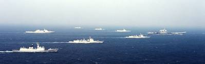 'Liaoning' battle group: Photo courtesy of PLA(N)