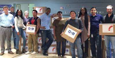 LISCR staff with the MOL packages