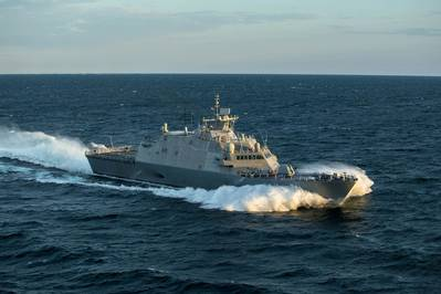 Littoral Combat Ship (LCS) 21, the future USS Minneapolis-Saint Paul, completed acceptance trials in Lake Michigan. (Photo: Lockheed Martin)
