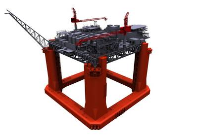 LLOG Exploration Delta House Model: Image credit 2H Offshore