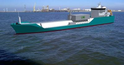 LNG bunkering barge for GDF