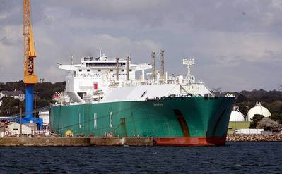 LNG Carrier: Photo credit Wikimedia CCL 'Rana'