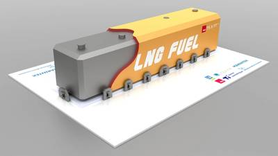 LNG Fuel Tank solution based on the NLI LNG tank design.