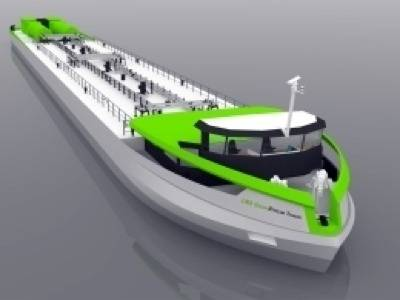 LNG Greenstream: Rendering courtesy of Alewijnse