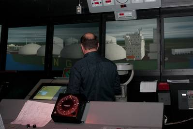 LNG training for Magnolia LNG inMSI's Full Mission Bridge. (Photo courtesy is MSI)