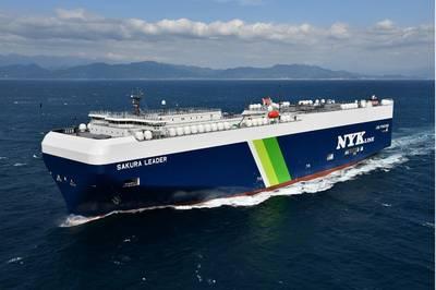 LNG-fueled PCTC Sakura Leader. Photo courtesy NYK