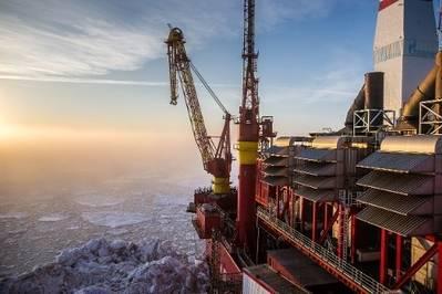 Prirazlomnaya offshore platform: Photo courtesy of Gazprom