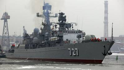 Udaloy-class Destroyer: Photo credit Wikipedia CCL