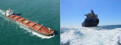 (L-R) m/v Crystalia and m/v Maera. Pic: Diana Shipping Inc.
