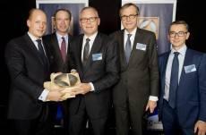 (l-r) Philip Oetker, Keith McLoughlin (President & CEO, Electrolux), Bjorn Vang Jensen, Dr Ottmar Gast and Gregoire Letort (Chief Purchasing Officer, Electrolux).