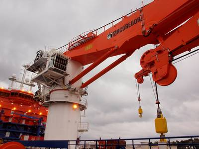 MacGregor advanced 250-ton AHC subsea cranes are suitable for ultra-deepwater operations.