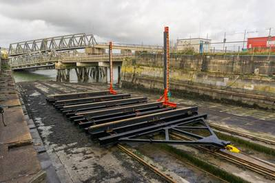 Mainstay Marine Solutions' new trolley recovery system has nearly doubled its slipping capability to 650 tons (Photo: Mainstay Marine Solutions)