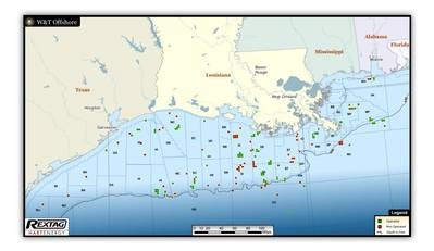 Map of Rigs, Platforms in GofM: Image credit W&T Offshore