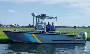 Marine 7, a 21-ft. Comander center console patrol/rescue boat