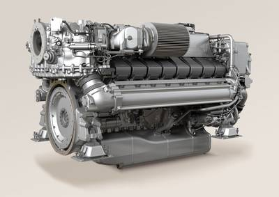 Marine Engine MTU 2000: Photo credit MTU