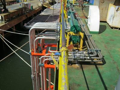 Marine Hydraulic Piping System: Photo credit Power Dynamics LLC