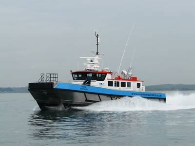 Maritime Craft Services MCS Zephyr is the first vessel in the world to be built under survey to DNV 1A1 HSLC R2 Wind Farm Service 1 Class