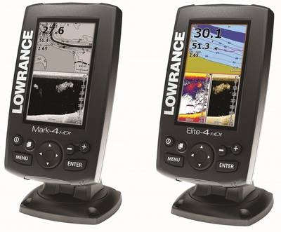 Mark-4 (left) and Elite-4 from Lowrance