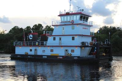 Master Marine delivered its first 2,000 hp Z Drive inland river towboat (Photo courtesy of Master Marine)