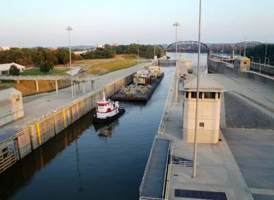McAlpine Lock and Dam. (USCG Image)