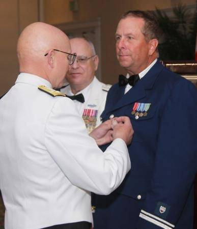 Medal award: Photo credit USCG