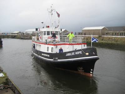 Medical vessel Jubilee Hope: Photo courtesy of the Vine Trust